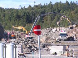 Det arbeides på spreng med ny E18 ved Dyreparken