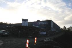 Det nye Byggmakker-bygget i Buråsen tar form